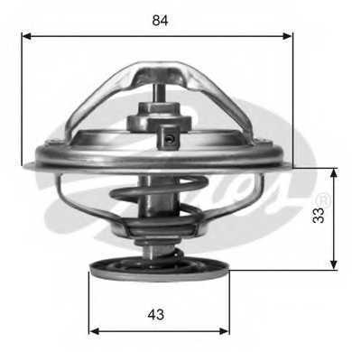 Термостат охлаждающей жидкости GATES TH06582G1 - изображение