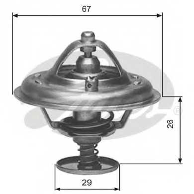 Термостат охлаждающей жидкости GATES TH09180G1 - изображение