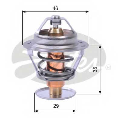 Термостат охлаждающей жидкости GATES TH10489G1 - изображение