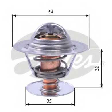 Термостат охлаждающей жидкости GATES TH11292G1 - изображение
