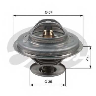 Термостат охлаждающей жидкости GATES TH11687G1 - изображение