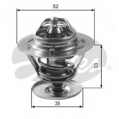 Термостат охлаждающей жидкости GATES TH12588G1 - изображение