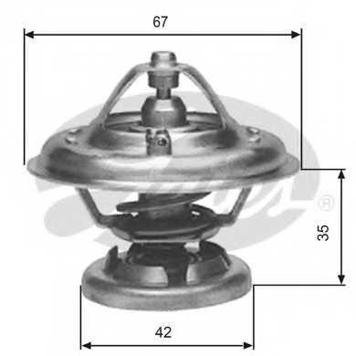 Термостат охлаждающей жидкости GATES TH12680G1 - изображение