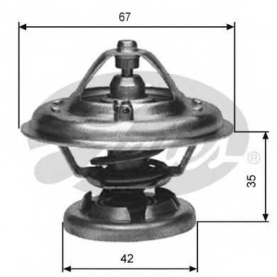 Термостат охлаждающей жидкости GATES TH12685G1 - изображение