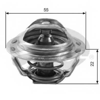Термостат охлаждающей жидкости GATES TH13783G1 - изображение