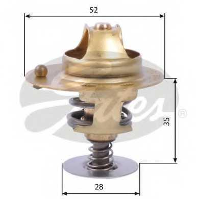 Термостат охлаждающей жидкости GATES TH14178G1 - изображение