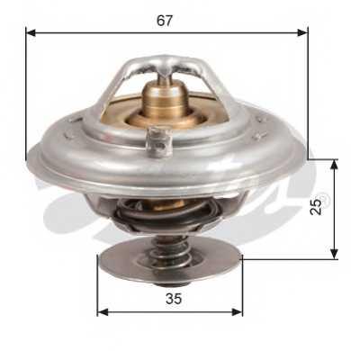 Термостат охлаждающей жидкости GATES TH14392G1 - изображение