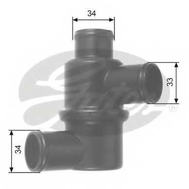 Термостат охлаждающей жидкости GATES TH14580 - изображение