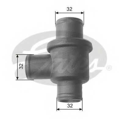 Термостат охлаждающей жидкости GATES TH15587 - изображение