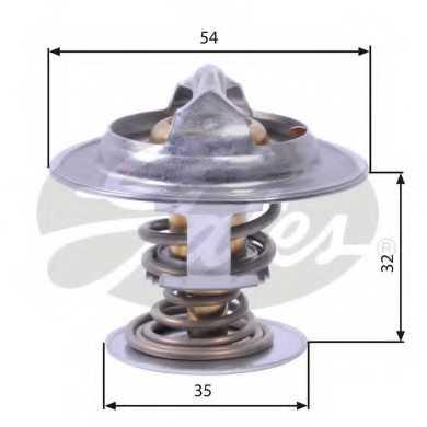 Термостат охлаждающей жидкости GATES TH26590G1 - изображение