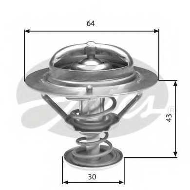 Термостат охлаждающей жидкости GATES TH27078G1 - изображение