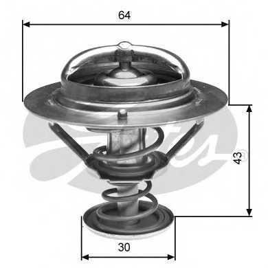 Термостат охлаждающей жидкости GATES TH27088G1 - изображение