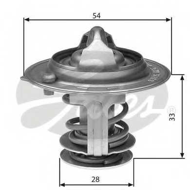 Термостат охлаждающей жидкости GATES TH29882G1 - изображение