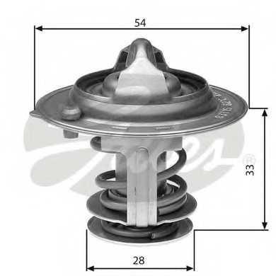 Термостат охлаждающей жидкости GATES TH29888G1 - изображение