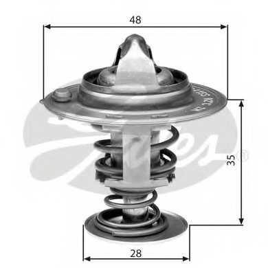 Термостат охлаждающей жидкости GATES TH30082G1 - изображение