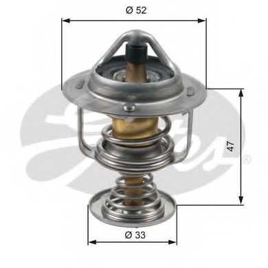 Термостат охлаждающей жидкости GATES TH30580G1 - изображение