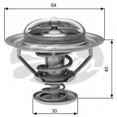 Термостат охлаждающей жидкости GATES TH31182G1 - изображение
