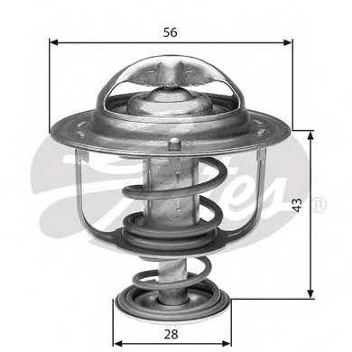 Термостат охлаждающей жидкости GATES TH31276G1 - изображение