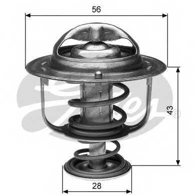 Термостат охлаждающей жидкости GATES TH31282G1 - изображение