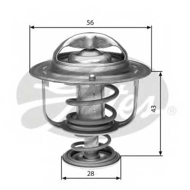 Термостат охлаждающей жидкости GATES TH31388G1 - изображение