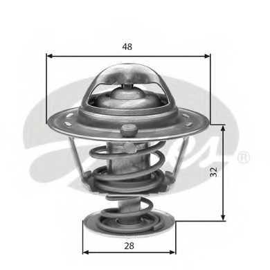 Термостат охлаждающей жидкости GATES TH32576G1 - изображение