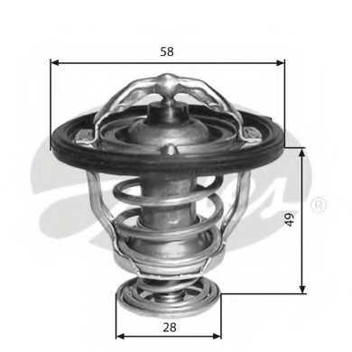Термостат охлаждающей жидкости GATES TH33682G1 - изображение