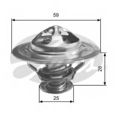 Термостат охлаждающей жидкости GATES TH34590G1 - изображение