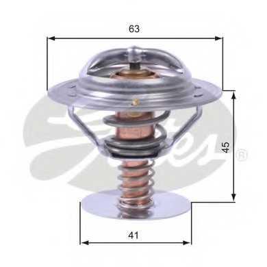 Термостат охлаждающей жидкости GATES TH43080 - изображение