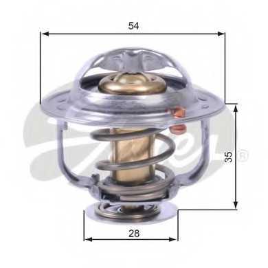 Термостат охлаждающей жидкости GATES TH43880G1 - изображение