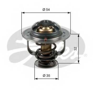 Термостат охлаждающей жидкости GATES TH47087G1 - изображение