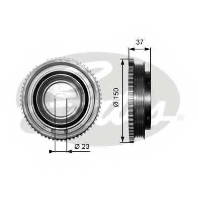 Ременный шкив коленвала GATES TVD1053 - изображение