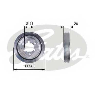 Ременный шкив коленвала GATES TVD1055 - изображение