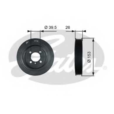 Ременный шкив коленвала GATES TVD1129 - изображение