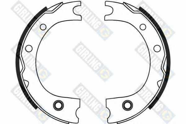 Комплект колодок стояночной тормозной системы GIRLING 5187169 - изображение 1