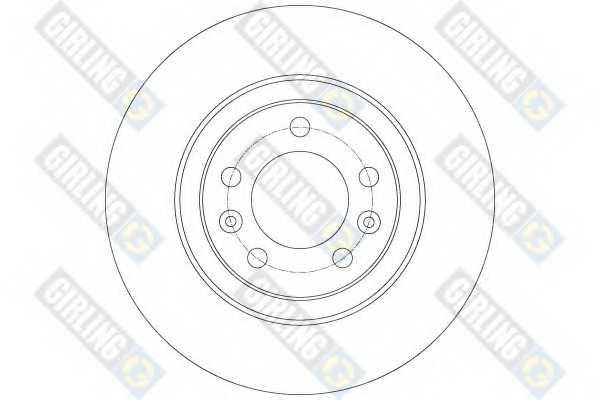 Тормозной диск GIRLING 6061344 - изображение 1