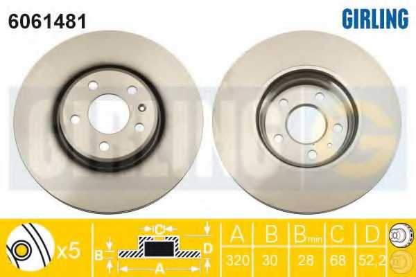 Тормозной диск GIRLING 6061481 - изображение