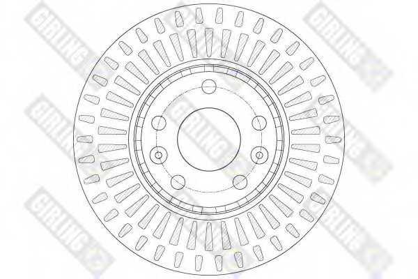 Тормозной диск GIRLING 6061841 - изображение 1