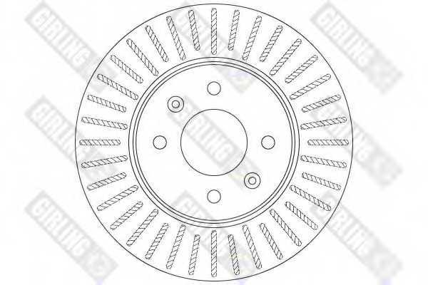 Тормозной диск GIRLING 6061981 - изображение