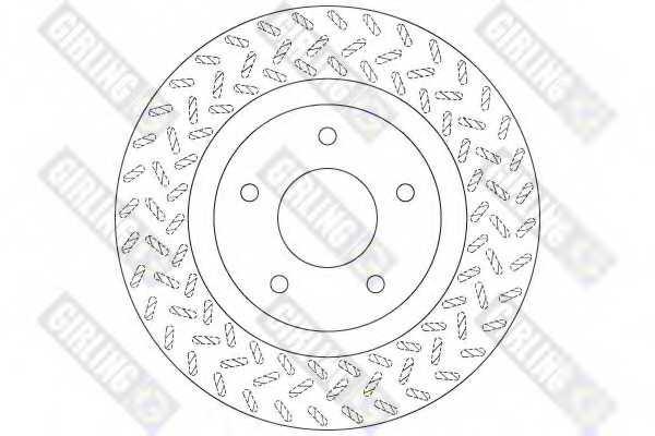 Тормозной диск GIRLING 6062061 - изображение 1