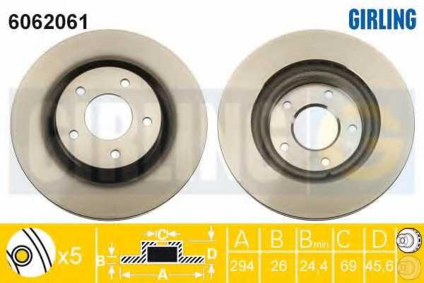 Тормозной диск GIRLING 6062061 - изображение
