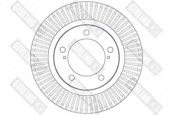 Тормозной диск GIRLING 6062395 - изображение