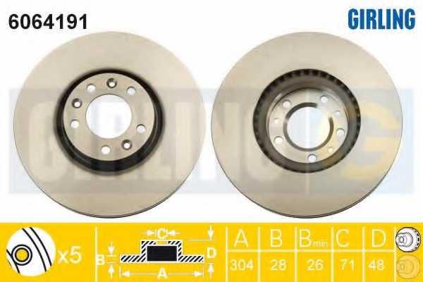 Тормозной диск GIRLING 6064191 - изображение