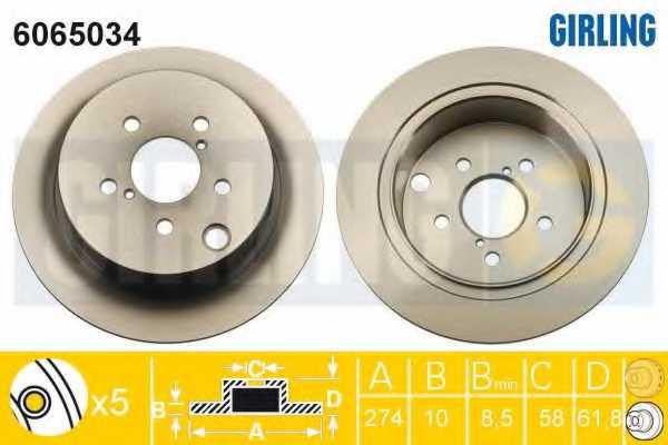 Тормозной диск GIRLING 6065034 - изображение