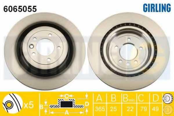 Тормозной диск GIRLING 6065055 - изображение