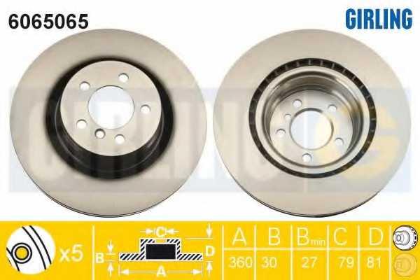 Тормозной диск GIRLING 6065065 - изображение