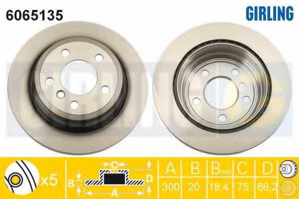 Тормозной диск GIRLING 6065135 - изображение