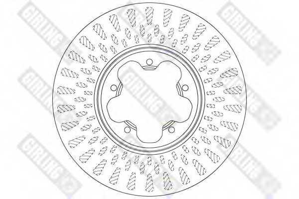 Тормозной диск GIRLING 6065145 - изображение 1