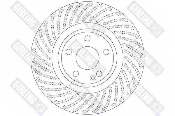 Тормозной диск GIRLING 6066311 - изображение 1
