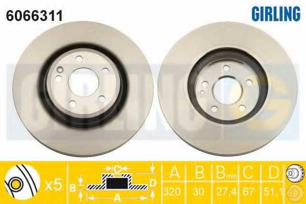 Тормозной диск GIRLING 6066311 - изображение