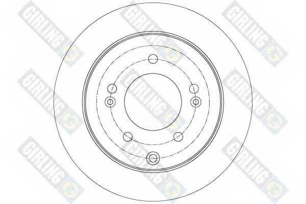Тормозной диск GIRLING 6078194 - изображение